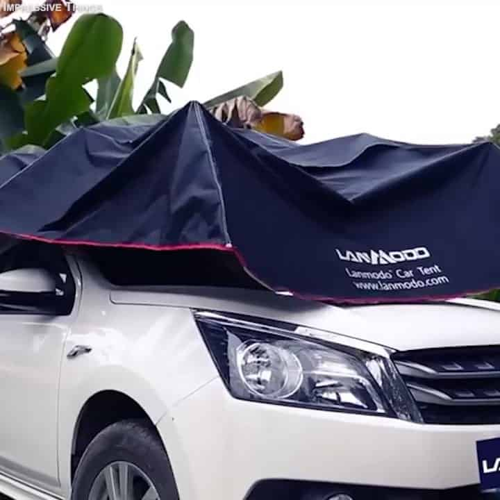Lanmodo Pro This Umbrella Protects Your Car In Harsh Conditions
