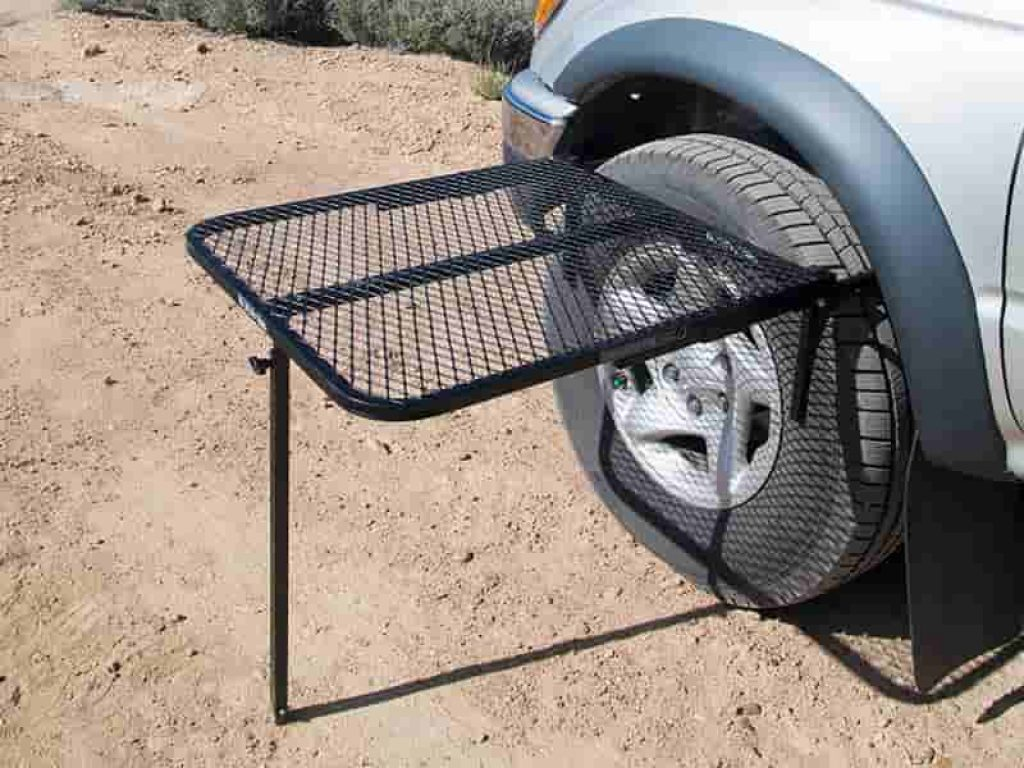 This Table Fits Onto Your Car's Tire