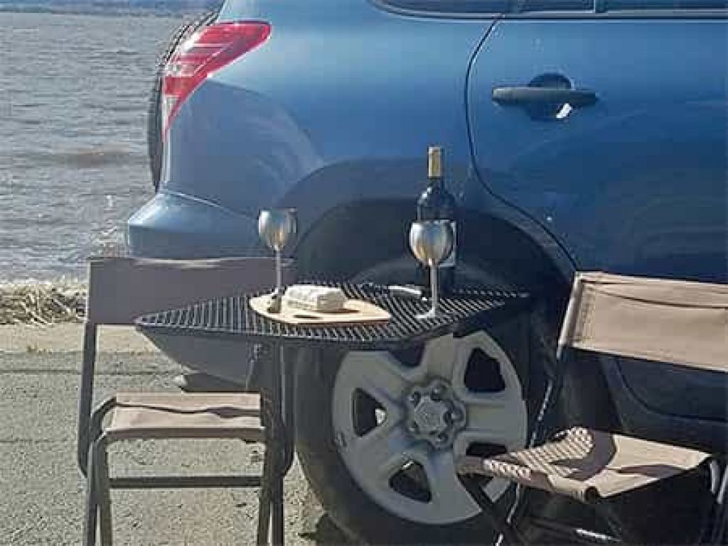 Tailgating Tire Table