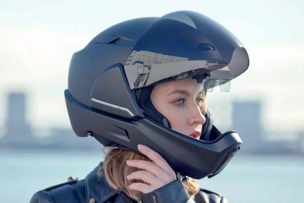 A smart helmet with Google Maps integration