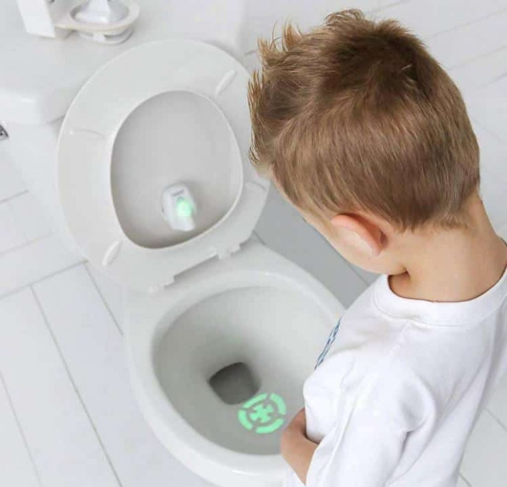 This target toilet light helps potty train kids